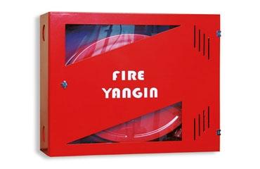 TS EN 671-1 Krom Kasa Cam Bölmeli Sulu Sistem Yangın Dolabı